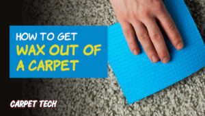 Getting wax out of a carpet