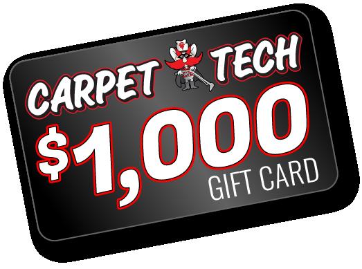 Carpet Tech $1000 gift card graphic